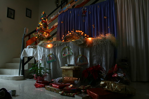 The main crib with gifts