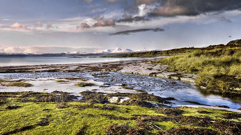 Kilmory Burn meets the sea