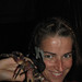 Me with Spidey and a smaller halloween crab. Koh Tao, Thailand 21DEC09