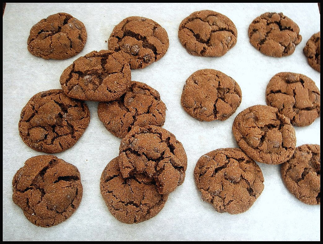 choco-ginger cookies