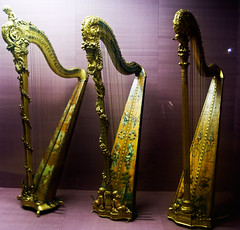 Three 1700s harps