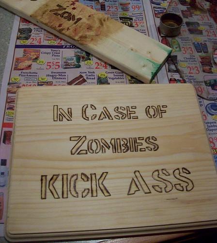 In Case of Zombies in progress