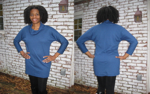 Cowl Tunic Front & Back