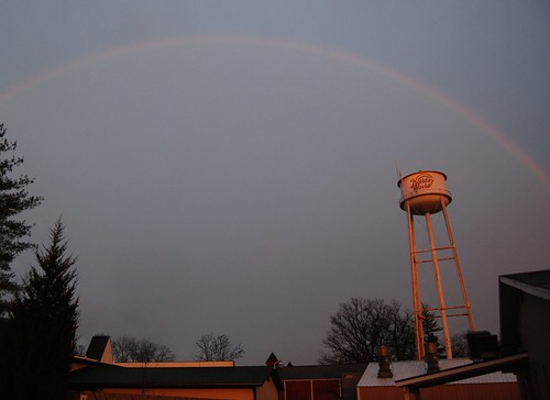 Beautiful rainbow over Holiday World (in January!)