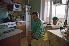 football fan (tailakova) Tags: morning kitchen moscow nikonn80 footballfan invain orekhovo oct2009 leonidvishnevskiy