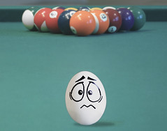 Eggbert... (RR) Tags: food brown white playing silly pool face goofy ink fun with emotion egg humor cartoon balls eggs drawn billiard snooker oval huevo sinuca ei oeuf ovo playingwithfood yumurta eggbert theeggventures ofeggbert brincandocomacomidablog