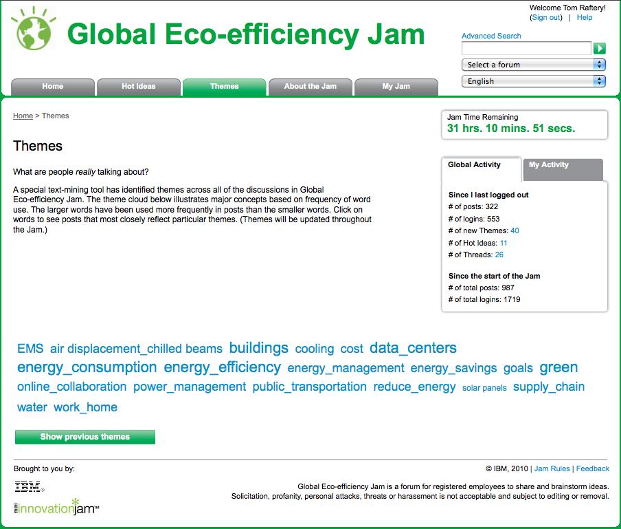IBM Eco Jam Themes