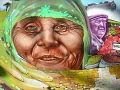 Mural en Plaza de Armas de Temuco (Marcos CQ) Tags: chile mural araucaria neruda pintura temuco mapuche surdechile artecallejero araucanía araucania southchile