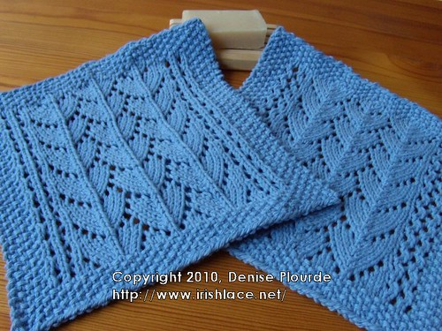 Irishlace Lacy Dragon Scale Washcloth Small Scale