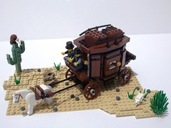 Stagecoach (I Scream Clone) Tags: wild west cowboy lego western stagecoach