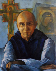 Thomas Merton portrait by Jim Nally