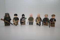 the whole team (kenneth nielsen a.k.a Qenhyt) Tags: 2 modern for mod paint lego military duty cal ba camoflage cod multi warfare multicam mw2 constest brickarms