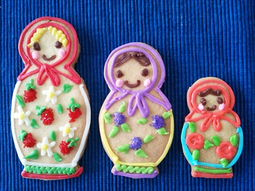 Matryoshka sisters cookie