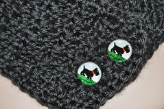 Neckwarmer with Scottie Intaglio Buttons (vicrochet) Tags: neck crochet scottie scottishterrier warmer neckwarmer intaglio