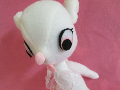 My white deer plush.