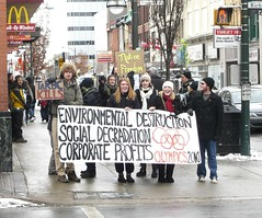 A day of action against Olympic sponsors and greenwashing