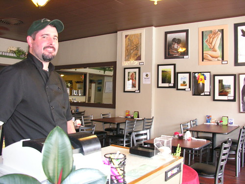 Owner, Scott Buckley, of Main Street Cafe and Pizzeria - great food at reasonable prices