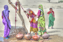 Thari Women. (Commoner28th) Tags: pakistan red india sahara water girl sand women village dress purple desert folk culture desi colourful hyderabad ahmed sindh indus thar rajasthan wel ivc agha mirpurkhas waseem cholistan umerkot supershot indusvalley meghwar indusvalleycivilization rajhistan commoner28th mygearandmepremium mygearandmebronze mygearandmesilver mygearandmegold mygearandmeplatinum khokhropar