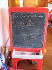Special of the day (silverfuture) Tags: illinois special aurora garycoleman cubs chalkboard doubledog tbonecanthelpit