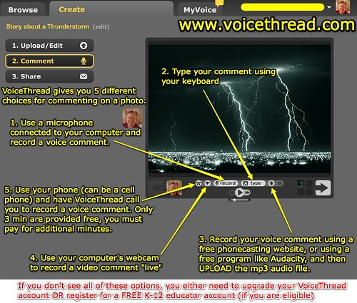 VoiceThread - Commenting options