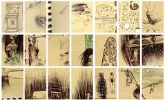 Particules de mon cahier de dessin (Steph/an_ie) Tags: pencil quebec drawing montreal dessin crayon piece qc partie kraft