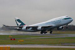 B-HOU - 24925 - Cathay Pacific Airways Cargo - Boeing 747-467 BCF - Manchester - 081126 - Steven Gray - IMG_3161