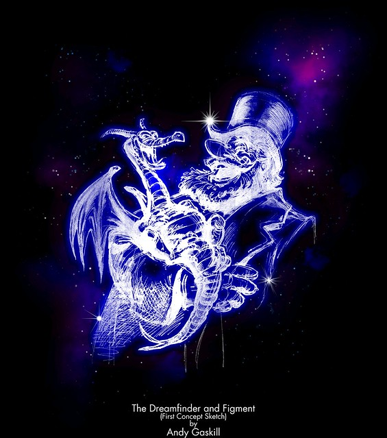 Dreamfinder and Figment Sketch (Nebula effect)