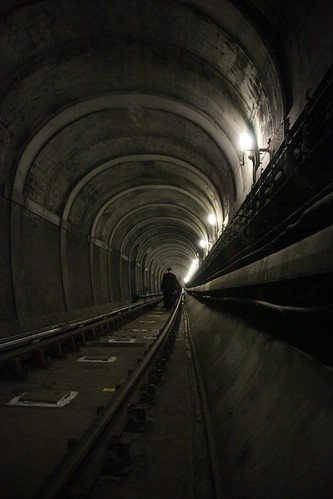 Rotherhithe Thames Tunnel - Walking back towards Rotherhithe by webponce