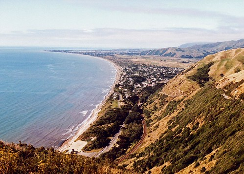 View from Paekakariki Hill Road New Zealand