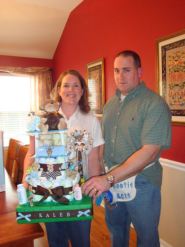 Kimberly's Diaper Cake with David's Daddy Dootie Belt