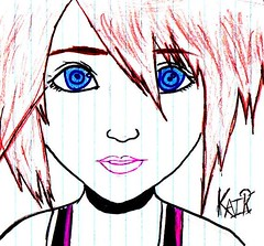 another sketch by Cassie 019 (Nightmares_Come_Every_Night) Tags: sketch kairi kingdomofhearts