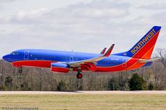 Southwest Airlines Boeing 737-7H4 N247WN ALK_5342 (akirkfoto) Tags: airplane airport tn jet boeing 737 southwestairlines 737700 kbna n247wn bnaphoto akirkfoto adamkirkphotography