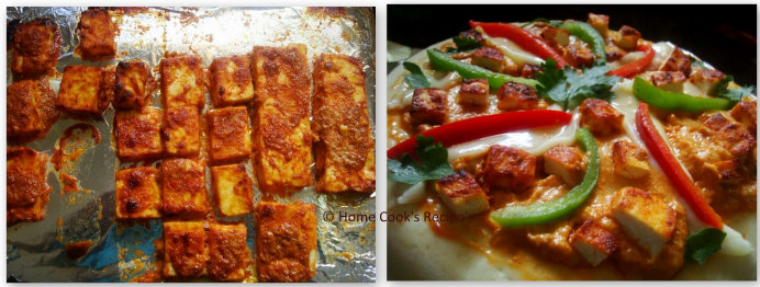 Paneer Tikka and Pizza Toppings