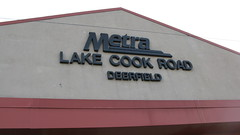 The Lake Cook Road Metra commuter rail station. Deerfield Illinois. Tuesday, March 30th 2010.