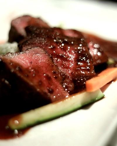 Spanish black pig shoulder loin steak