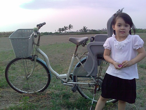 Christina and the Hello Kitty bike