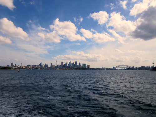 Sydney Harbour - View of the city