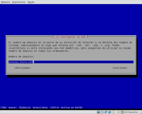 Configurar dominio