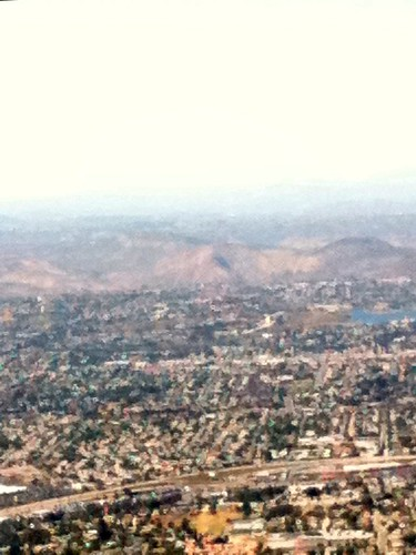 San Diego from the airplane
