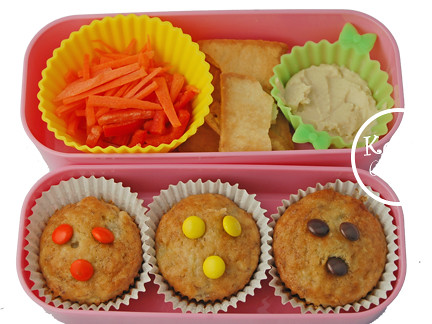 Bento #148 - 3 little muffies