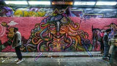 Leake street. Femme fierce. 2014. (Amara Por Dios) Tags: streetart london art wall graffiti mural artist urbanart graff piece amara londonstreetart amarapordios