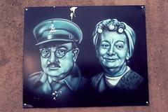 Captain Mainwaring (Westcountry_Wildflower) Tags: streetart dadsarmy graffiti captainmainwaring cardiff