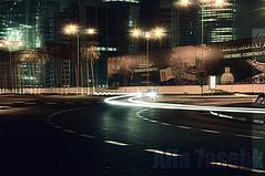 مـاتـعـودت اتـبـع الـمـقـفـي ولـو حـظـرت ..{جـنـابـك}.. ... (★Ᾰΐΐα-7αseβκ) Tags: street light night speed al nikon alla doha qatar cornish d90 digitalcameraclub 7asebk