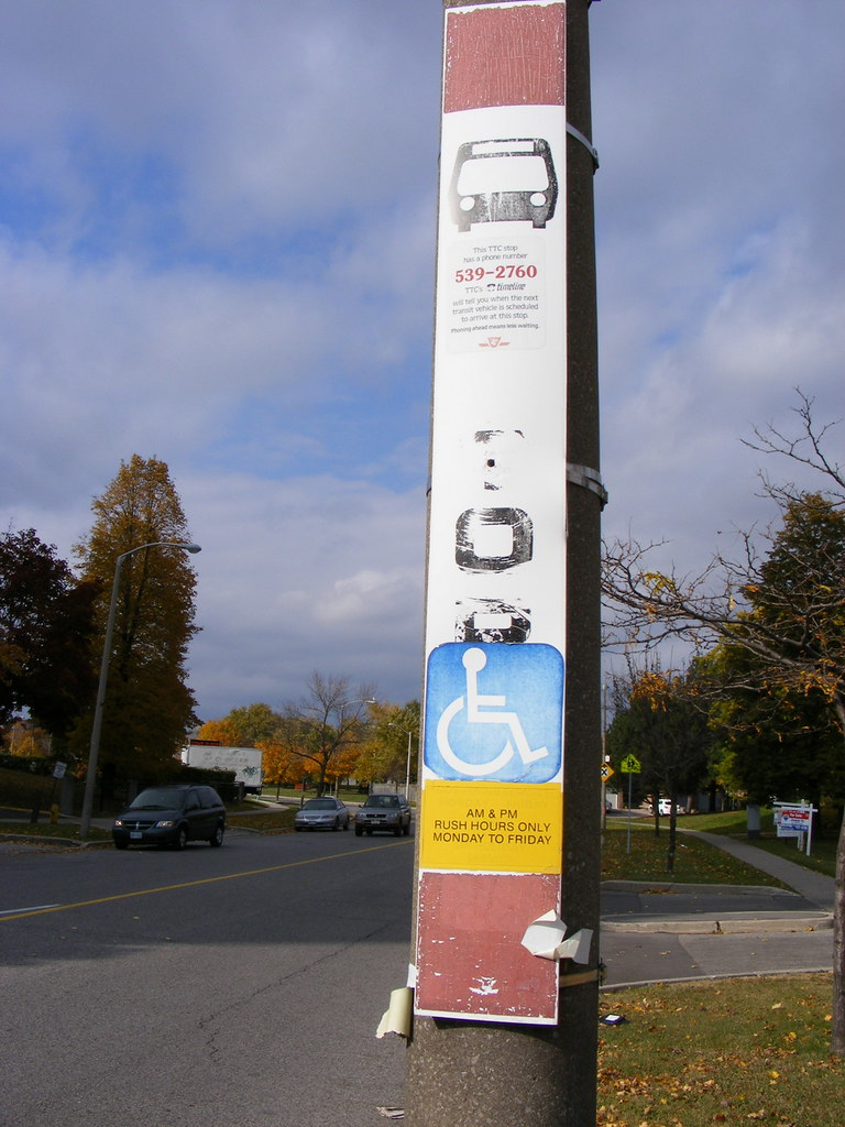 Old TTC bus stop