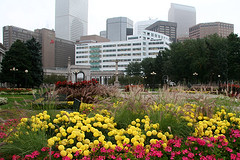 7447_Civic_Park (Outside Imagery) Tags: city urban flower building skyline architecture colorado cityscape denverco kieffer denvercolorado flowergarden downtowndenver civiccenterpark milehighcity denverskyline civicpark outsideimagerycom johnkieffer outsideimagery