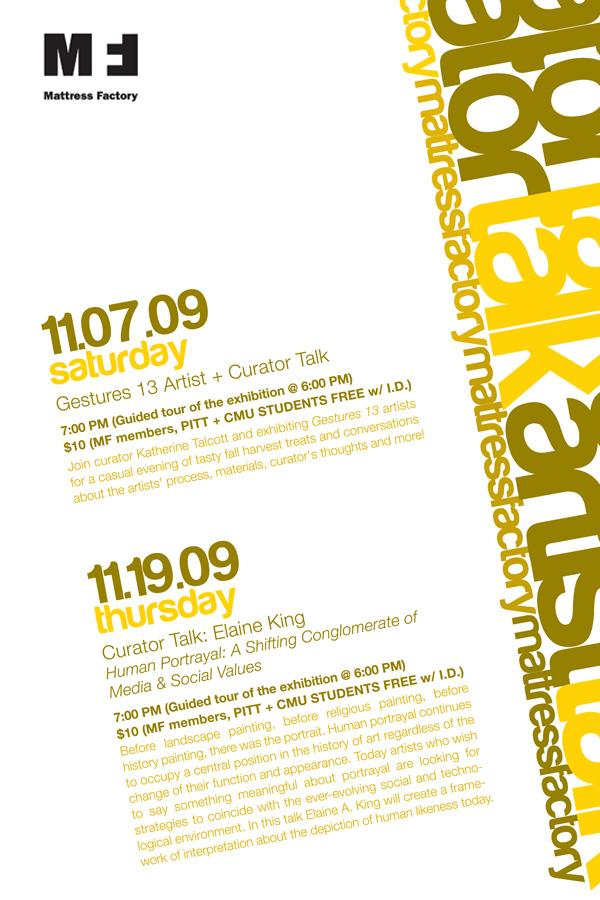 November 2009 - Artist & Curator Talks