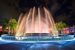 Late Night Water Show (~Life by the Drop~) Tags: park vacation tourism water fountain wonder photography orlando epcot nikon florida getaway magic dream tourist disney special professional disneyworld dreams theme destination fullframe nikkor waltdisneyworld fx magical epcotcenter attraction waltdisney dvc scl futureworld orlandoflorida gdad wheredreamscometrue orlandothemepark disneythemepark yearofamilliondreams d700 waltdisneyworldorlando nikond700 wherethemagiclives disneypassholder disneyyourway