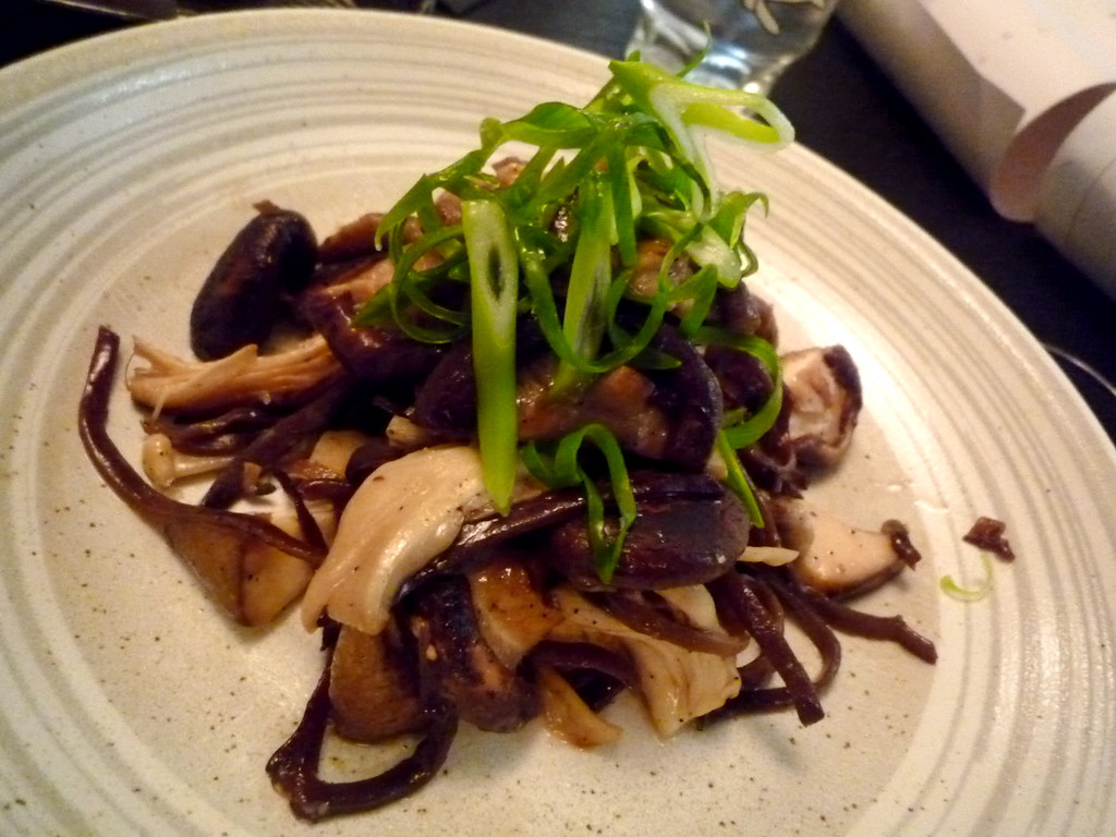 Sesame stir fried Japanese mushrooms