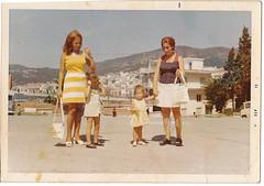 (Kristina) Tags: summer woman kids vintage mod holidays retro greece 70s 1970 bags seventies vacations