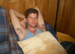 Joshua (Tobyotter) Tags: man male guy smile pits friend joshua young josh armpits